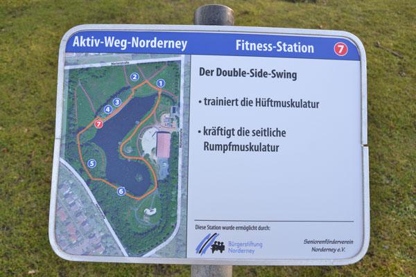 Neue Fitness-Station für den Norderneyer Aktiv-Weg
